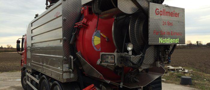 Technik zur Rohrreinigung - Einsatz für Notdienst
