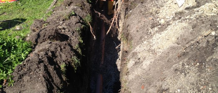 Kanal wird ausgehoben